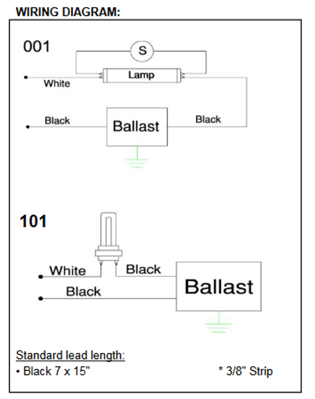 small resolution of sp2pw sp2p robertson fluorescent replacement ballasts fs2 fluorescent wiring diagram