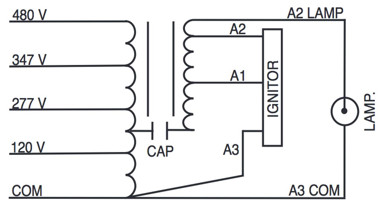 hight resolution of 347 volt hid ballast wiring diagram wiring diagramm750 120 277 347 480 ps kit sylvania 47409