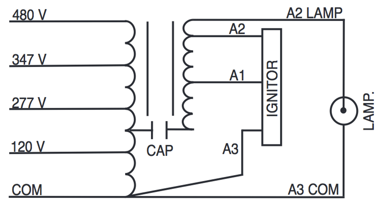 small resolution of 347 volt hid ballast wiring diagram wiring diagramm750 120 277 347 480 ps kit sylvania 47409