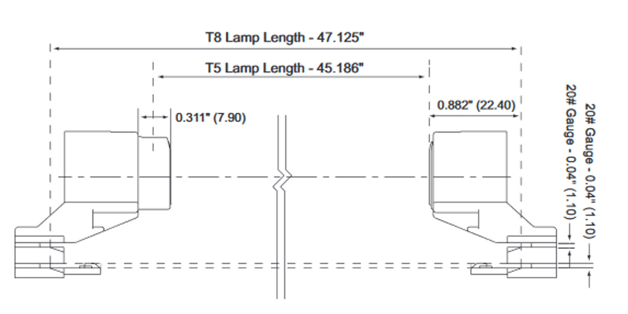 medium resolution of  t8 to t5 conversion socket spacers fixed plunger