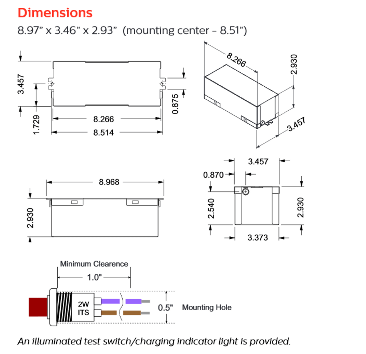hight resolution of  bodine bsl10 led emergency driver dimensions