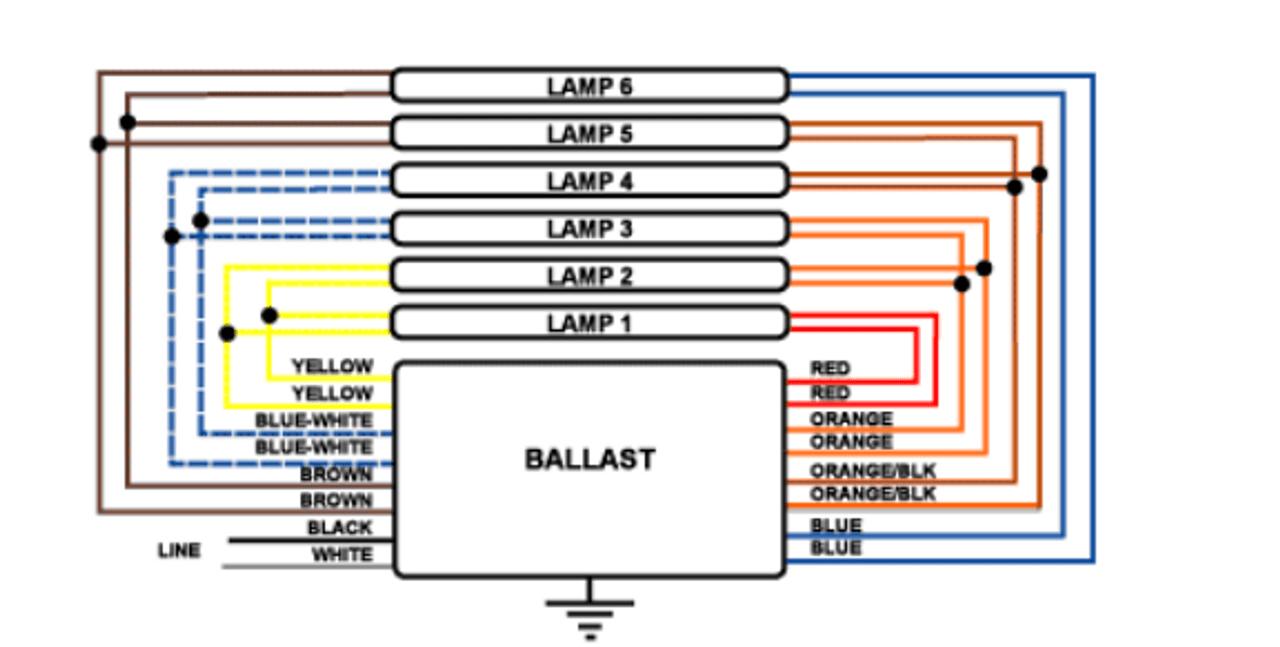 medium resolution of 4 5 6 lamp ballast wiring diagram wiring diagrams konsultdamar dsb2448 46bltp 06154d magnetic