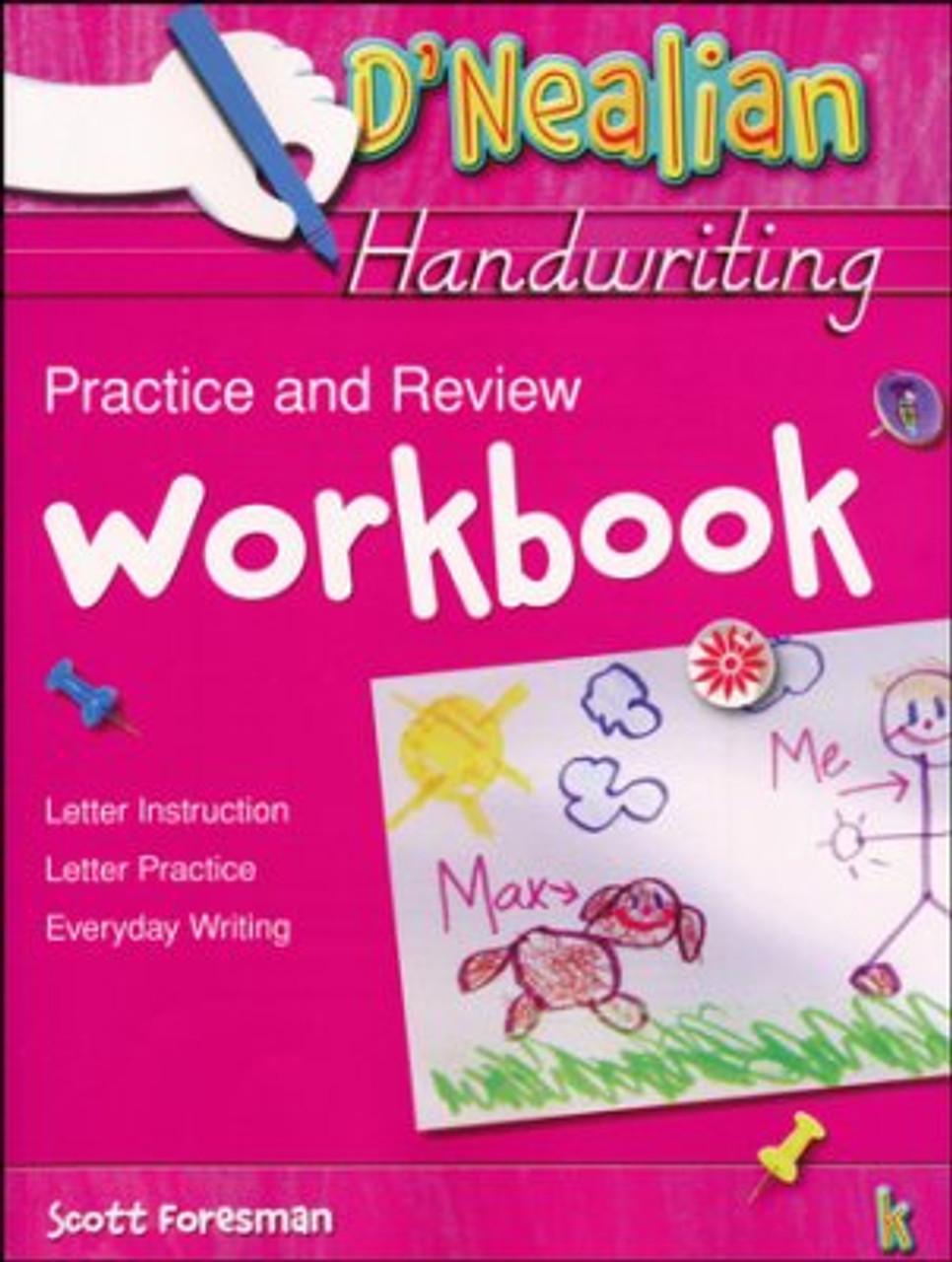 D'Nealian Handwriting Grade K Practice and Review Student Workbook -  Classroom Resource Center [ 1280 x 966 Pixel ]