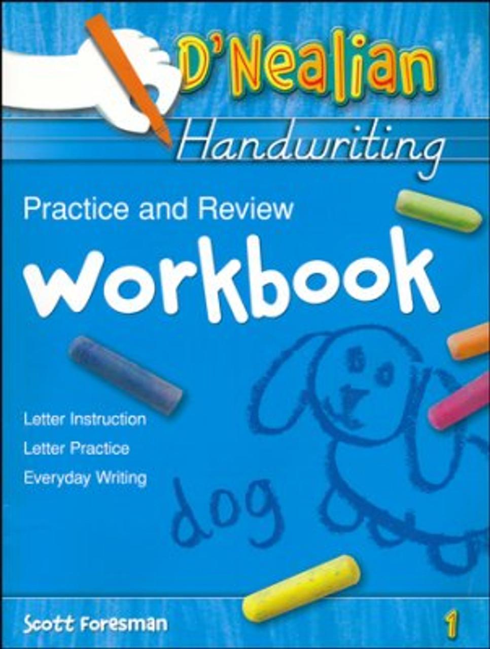 D'Nealian Handwriting Grade 1 Practice and Review Student Workbook -  Classroom Resource Center [ 1280 x 966 Pixel ]