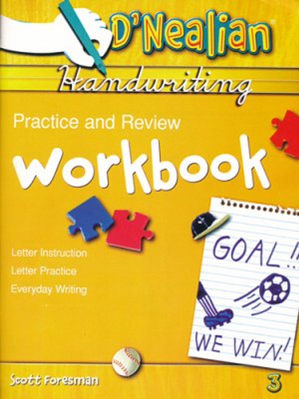 small resolution of D'Nealian Handwriting Grade 3 Practice and Review Student Workbook -  Classroom Resource Center