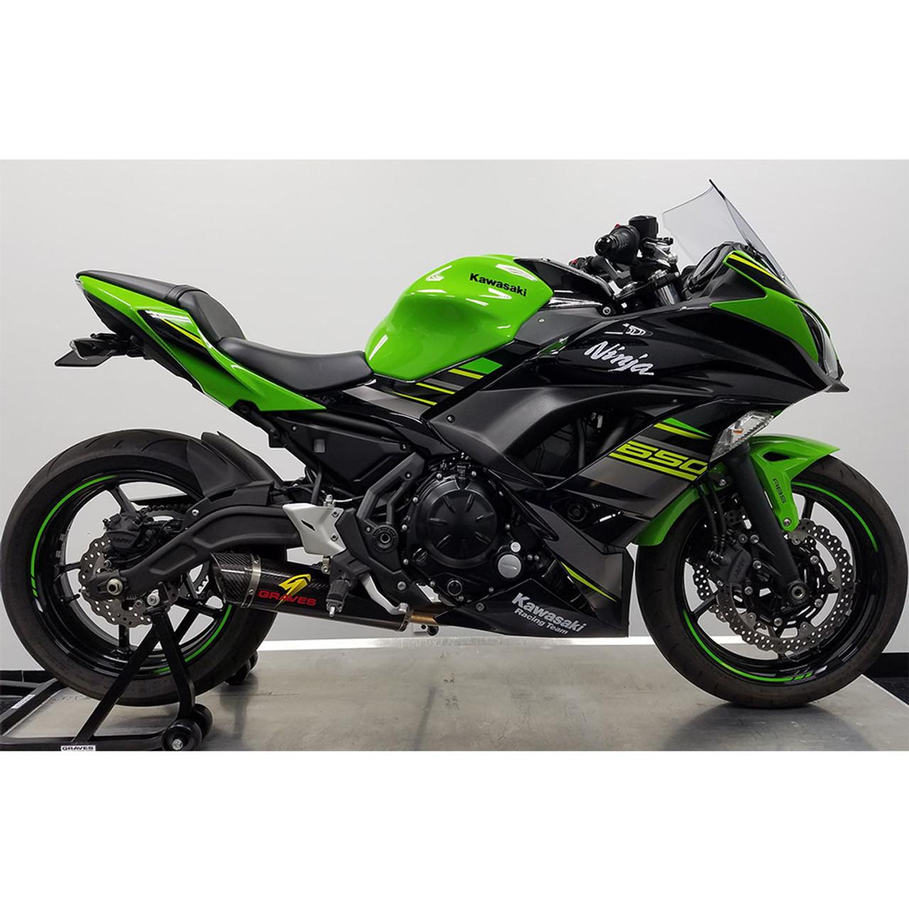 graves motorsports kawasaki ninja 650 17 21 full exhaust system