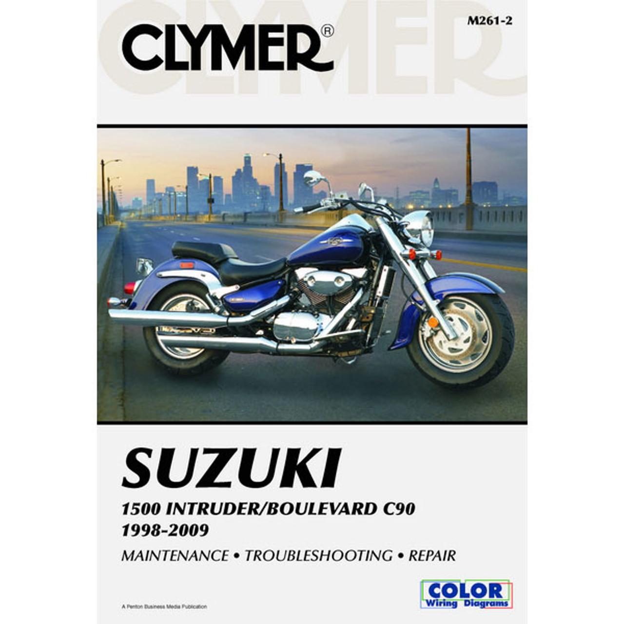 medium resolution of clymer suzuki 1500 intruder boulevard c90 98 09 service manual sportbike track gear