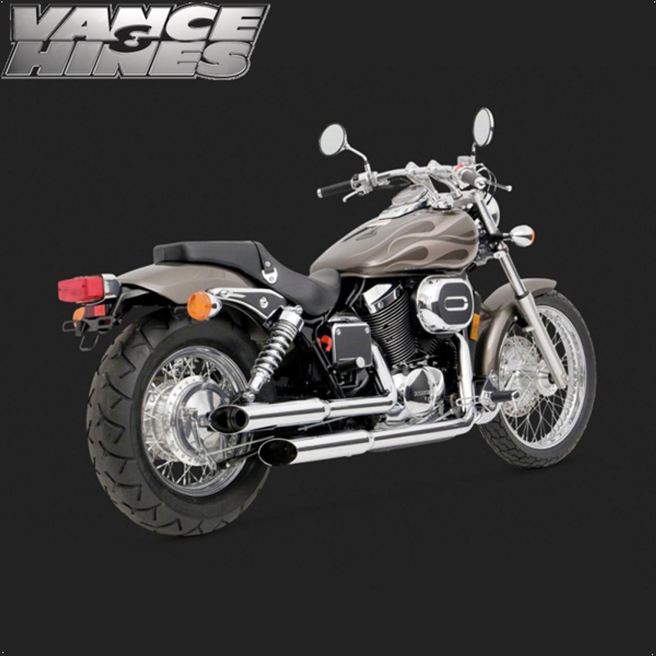 vance hines cruzer full exhaust system honda shadow spirit 750 dc 01 07