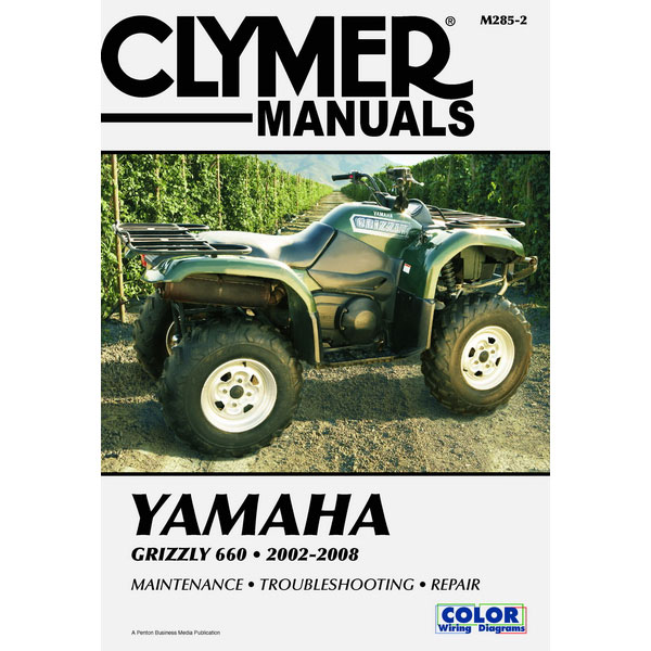 clymer yamaha grizzly 660 0208 service manual