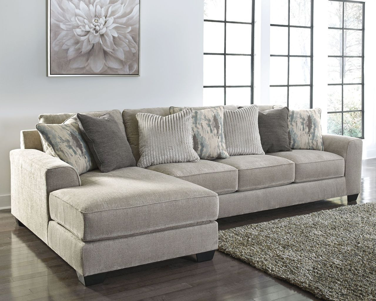 ardsley pewter laf corner chaise raf sofa couch sectional