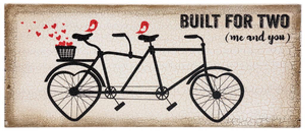 wood block bicycle signs