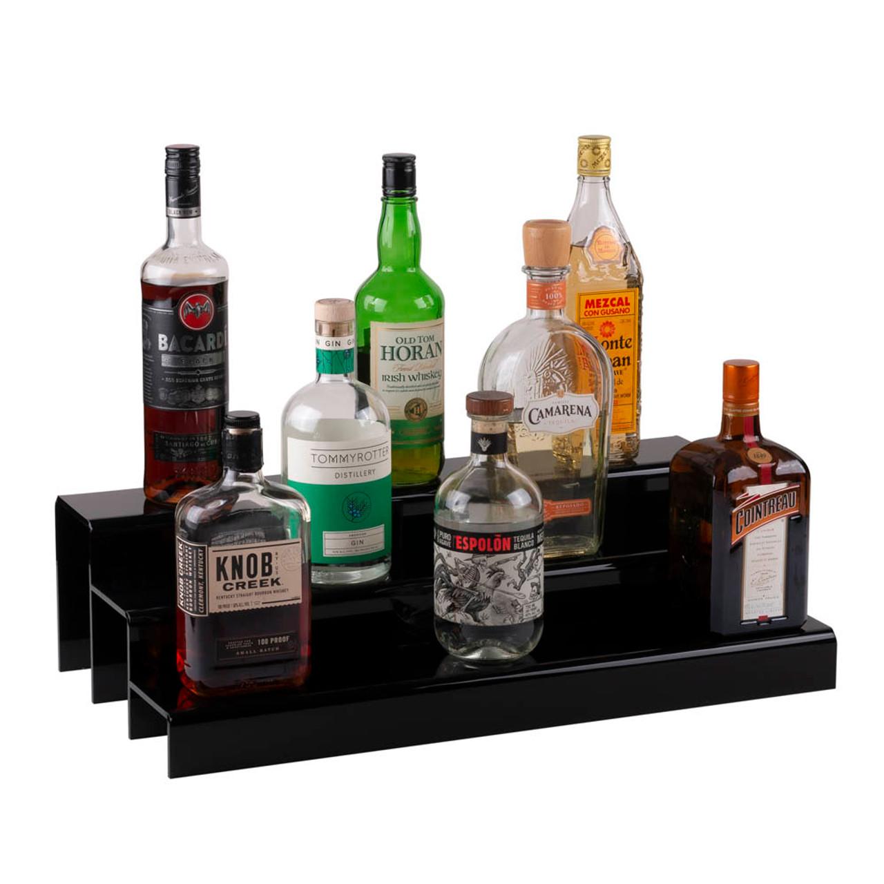 https www kegworks com 24 inch 3 tier liquor bottle shelf black