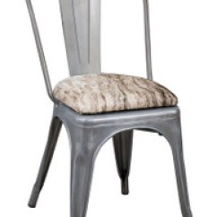 Tolix Chair Cushion Home Depot Lawn Seating Pale Brindle Cowhide