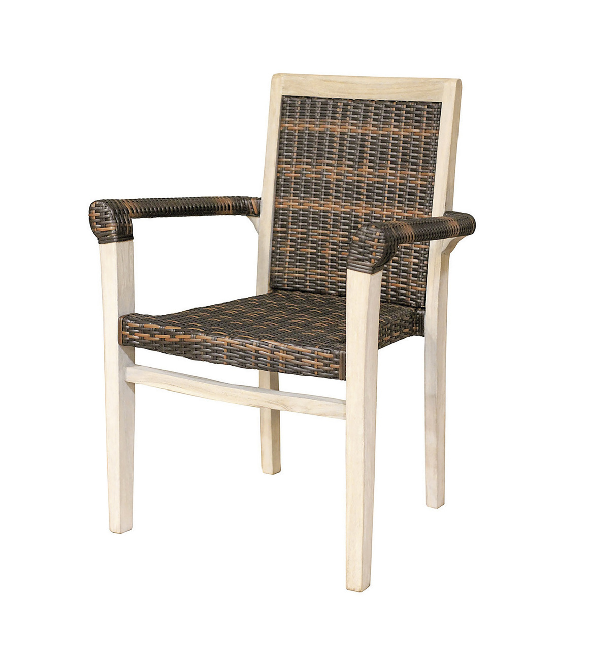 Stacking Dining Chairs Indoor Outdoor Teak And Rattan Stacking Dining Chair