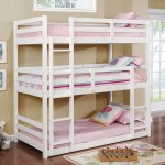 Furniture Of America California V Triple Twin Bunk Bed Kids N Cribs