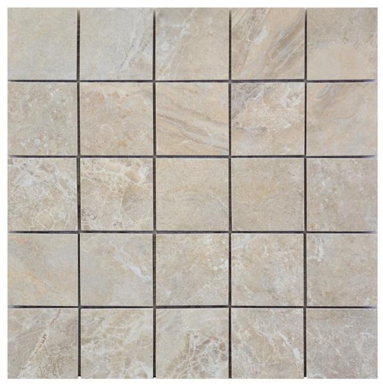 icaria dedalo beige 2x2 mosaic 12x12