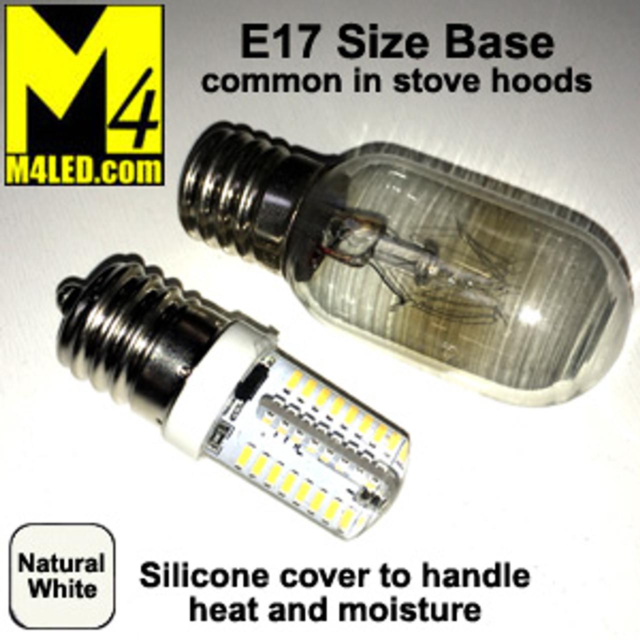 t25 sil nw natural white 110 120v t25 led with e17 base