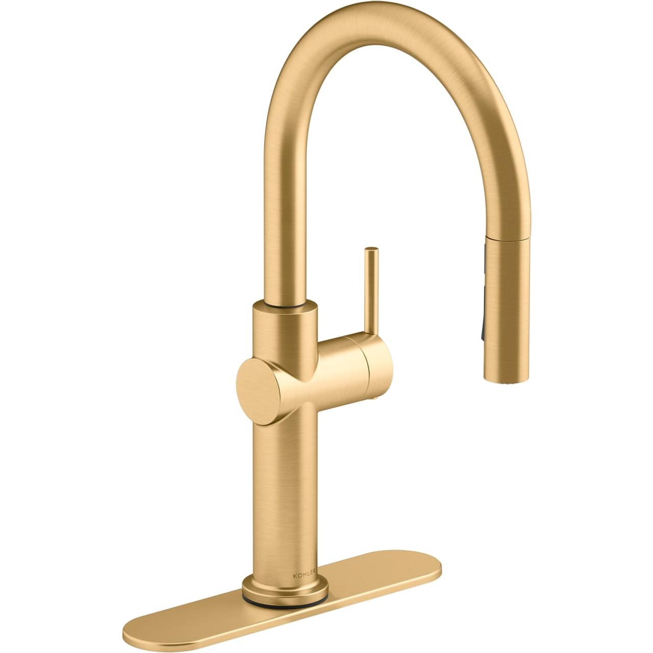 kohler crue 1 5 gpm single hole pull down kitchen faucet includes escutcheon