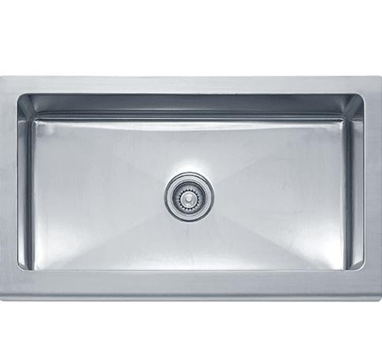 franke manor house 36 x 20 7 8 single basin farmhouse 16 gauge stainless steel kitchen sink