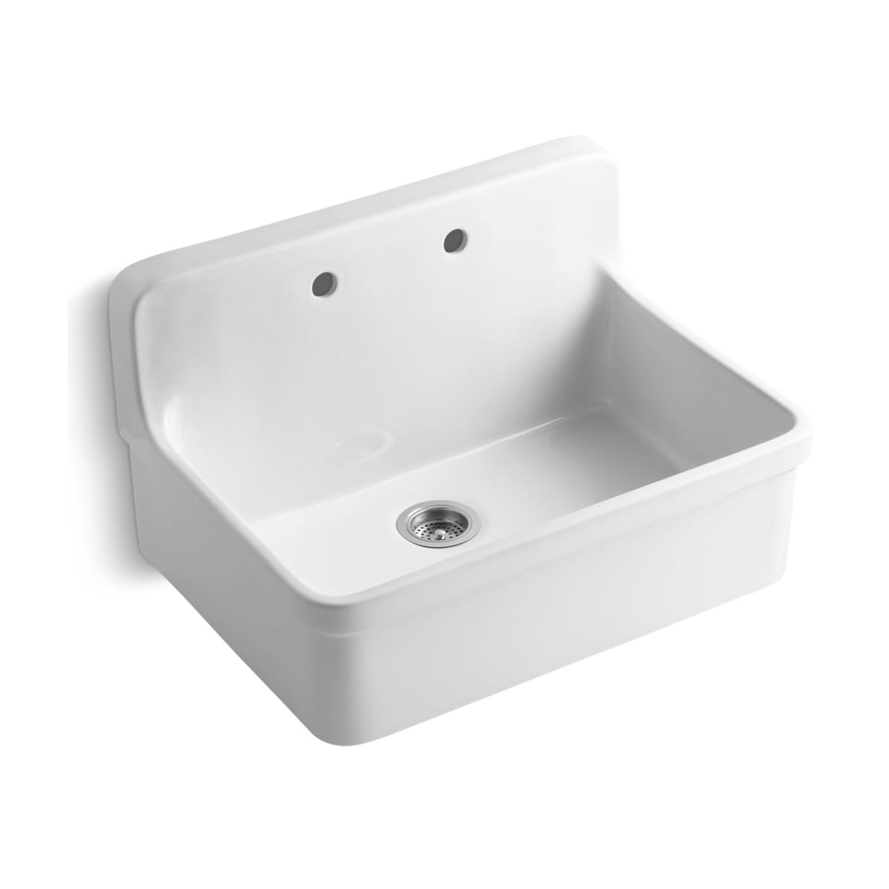kohler gilford 30 single basin wall mount top mount kitchen sink with apron front