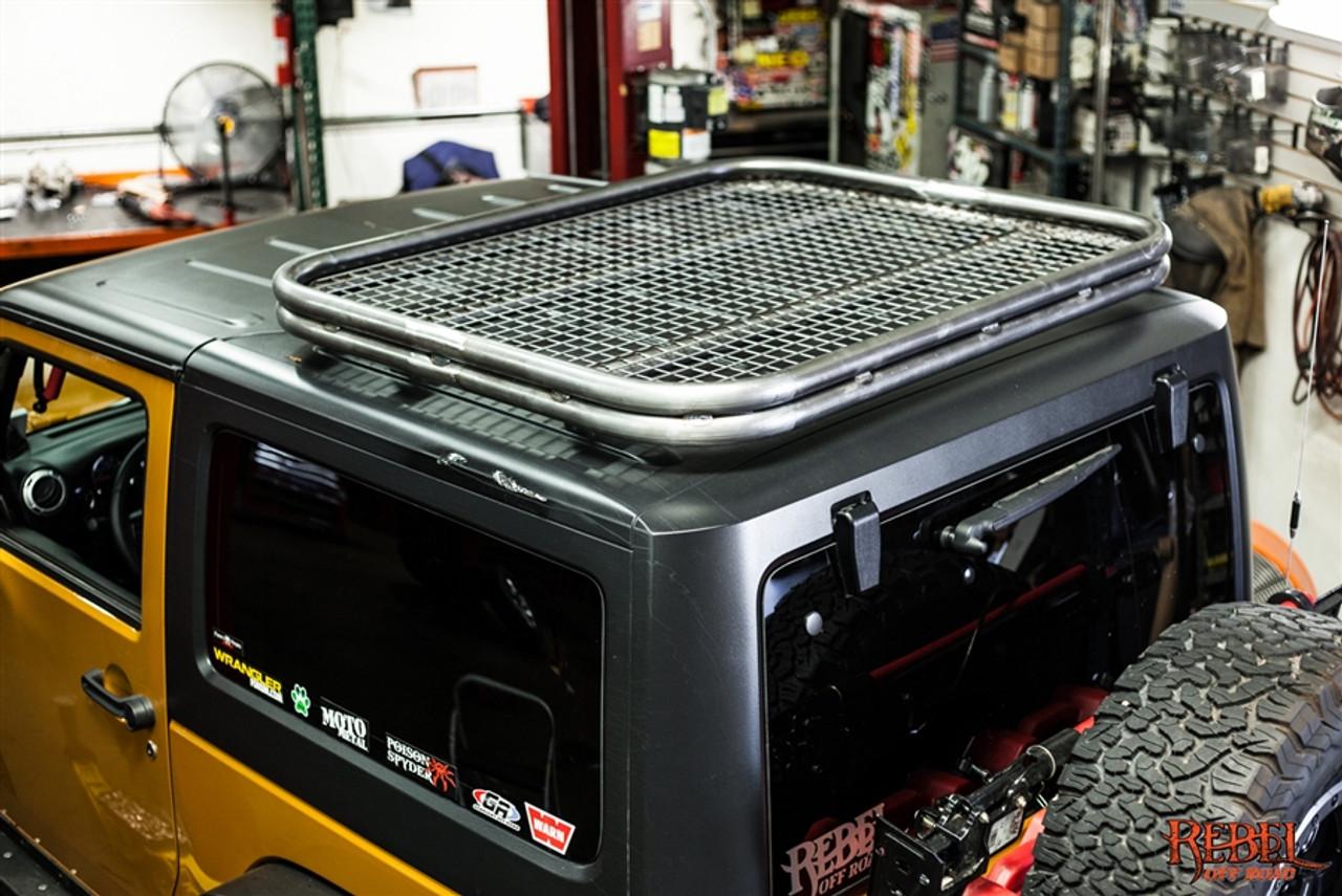 halo jeep wrangler jk 2 door roof rack double bar