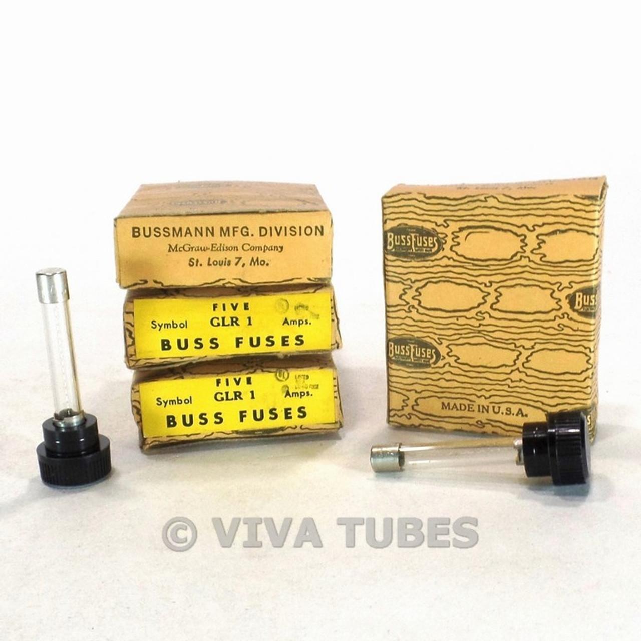 small resolution of lot of 20 nos nib bussman fuses glr 1 a 300 v panel mount fuse holder tube amps viva tubes
