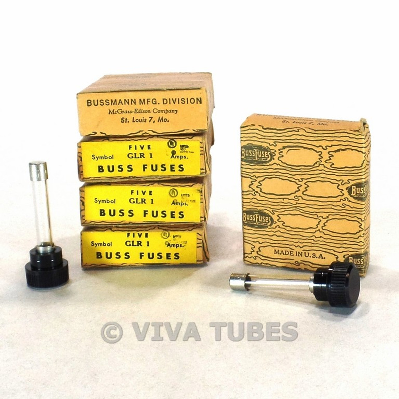 small resolution of set of 20 nos nib vintage bussman fuses type glr 1 aamp 300 v panel mount fuses viva tubes
