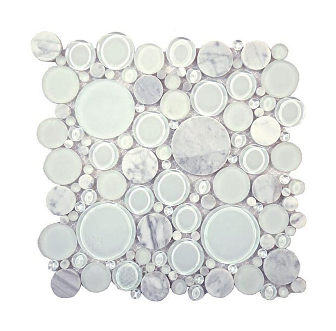 https tilestoreonline com round bubble glass natural stone marble mosaic tile bfs 101 white dove interlocking sheet