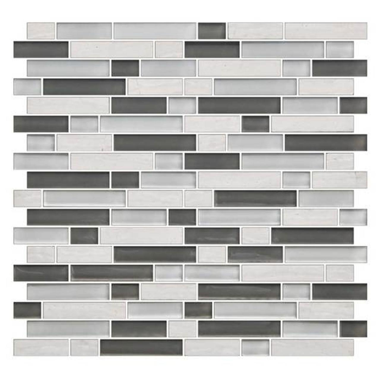 american olean color appeal blends c140 mountain morning blend 5 8 x random linear interlocking glass stone mosaic tile