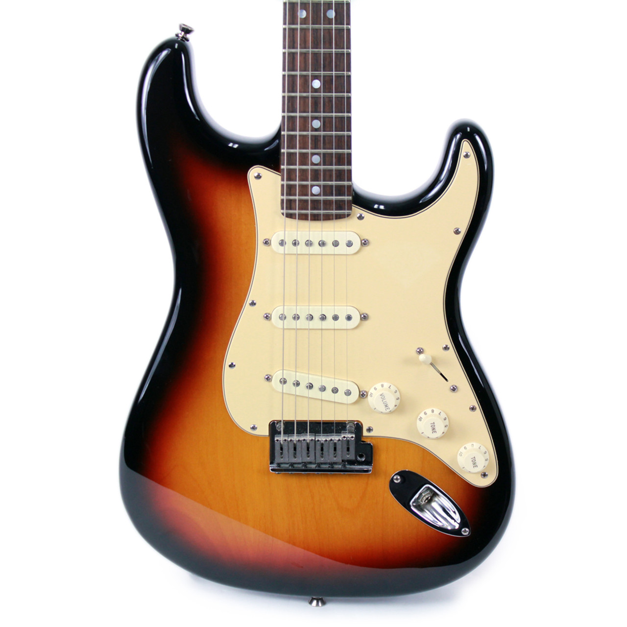 used 2006 fender diamond 60th anniversary american stratocaster in 3 voodoo strat wiring diagram color sunburst [ 1000 x 1000 Pixel ]