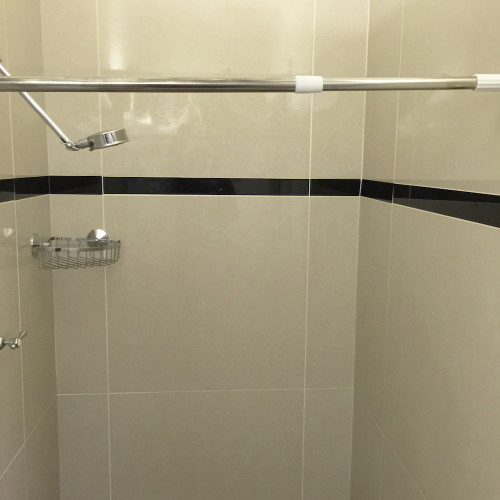 tension shower curtain rod pole extendable 70cm to 120cm white
