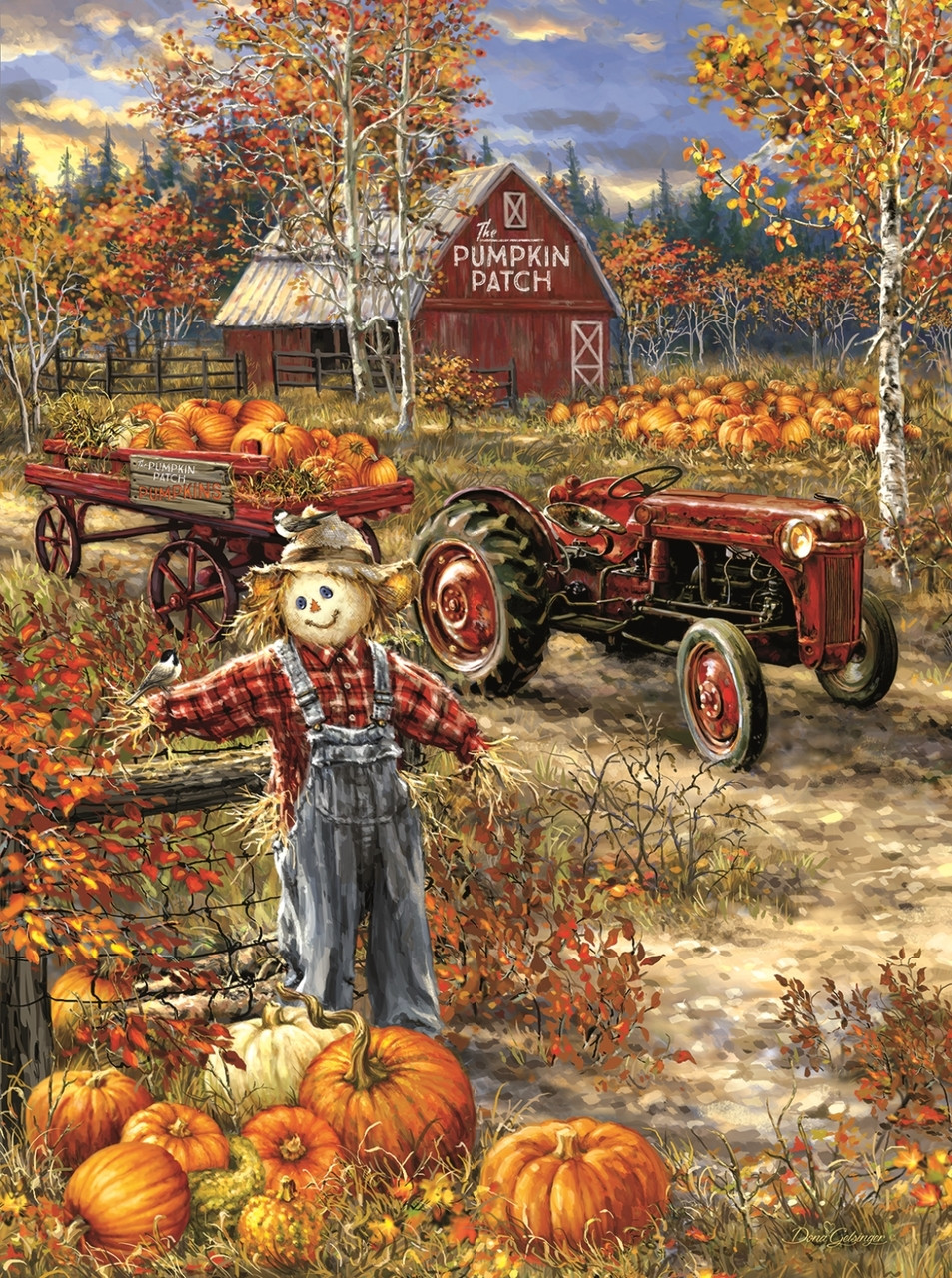 Thanksgiving Fall Wallpaper The Pumpkin Patch Farm 1000pc Jigsaw Puzzle By Sunsout
