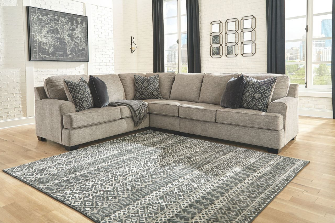 bovarian stone laf sofa with corner wedge armless chair raf loveseat sectional