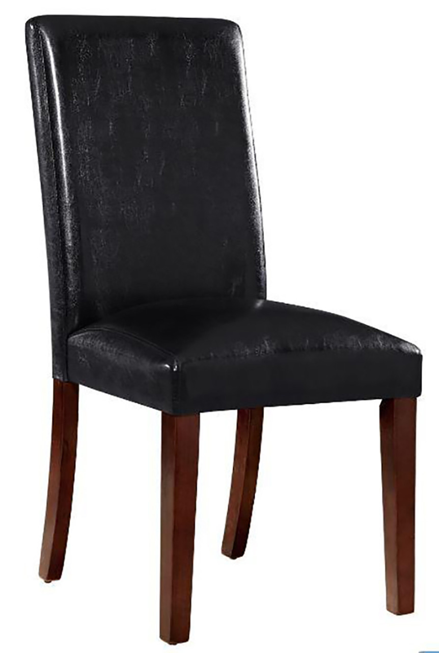 Dining Chair Dimensions Arly Black Leatherette Dining Chair