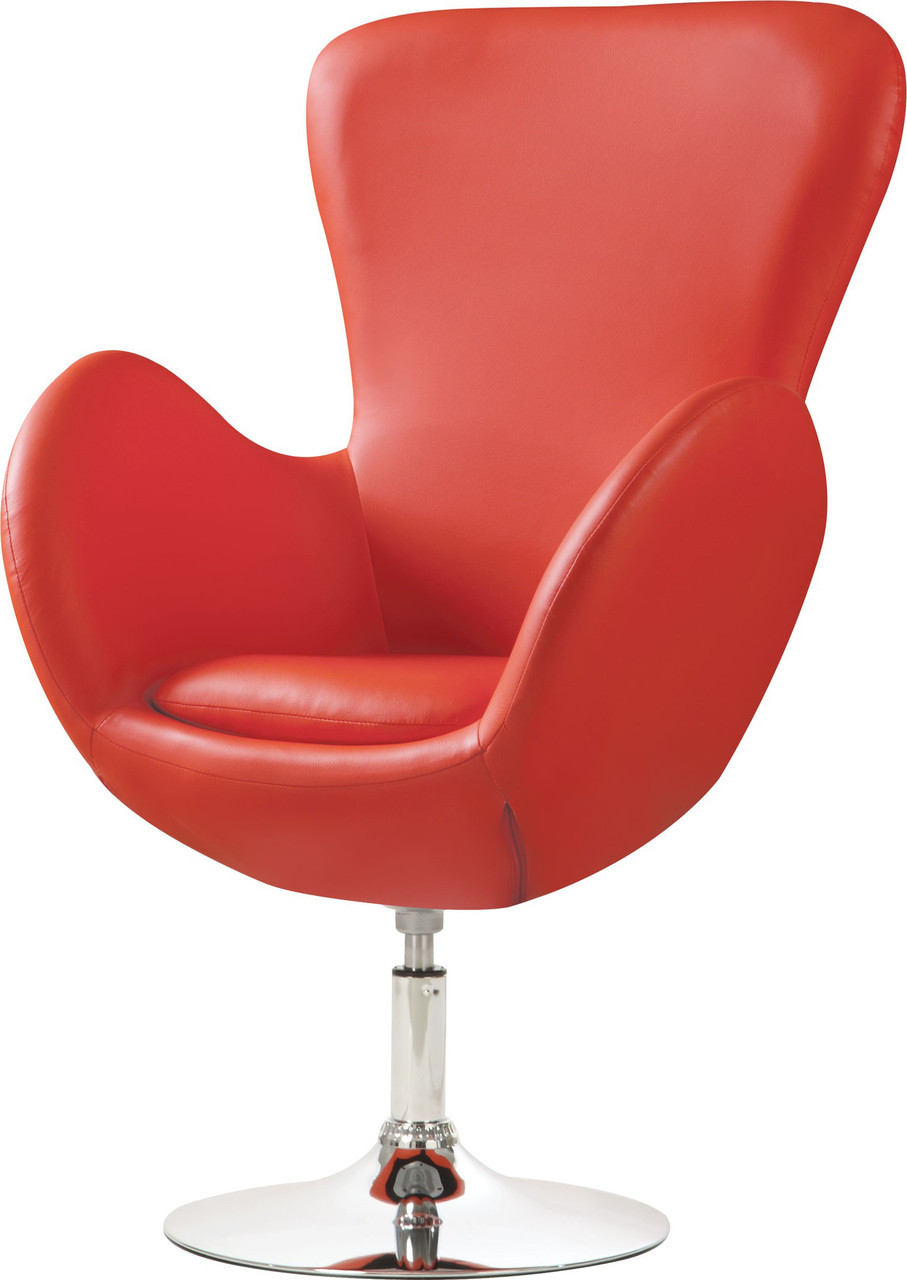 Red Leather Swivel Chair Truesdale Red Leather Swivel Chair