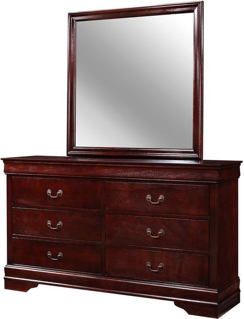 nimes cherry 58 3 wide dresser mirror