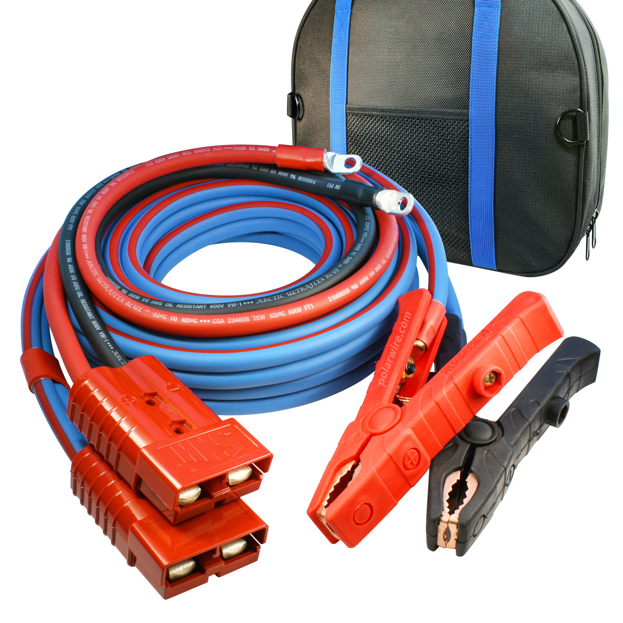 small resolution of 30 cold weather heavy duty jumper cable clamp to harness 1 0 gauge booster