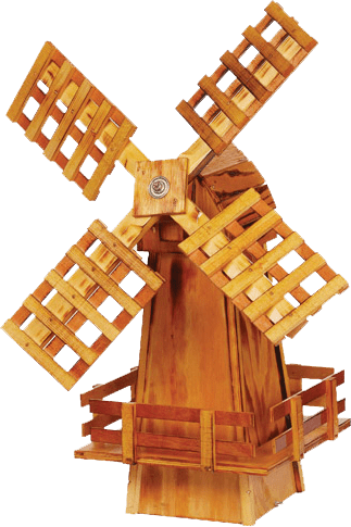Amish Crafted Wooden Windmill Made In USA