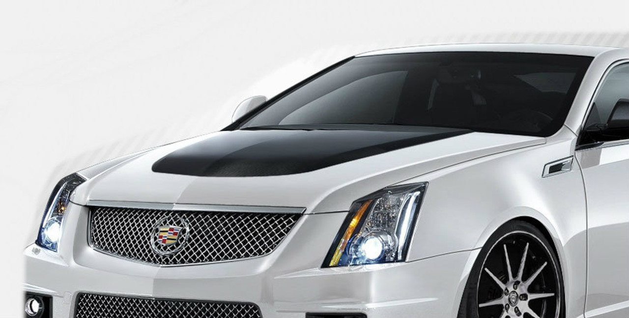 medium resolution of 2008 2013 cadillac cts carbon creations cts v look hood