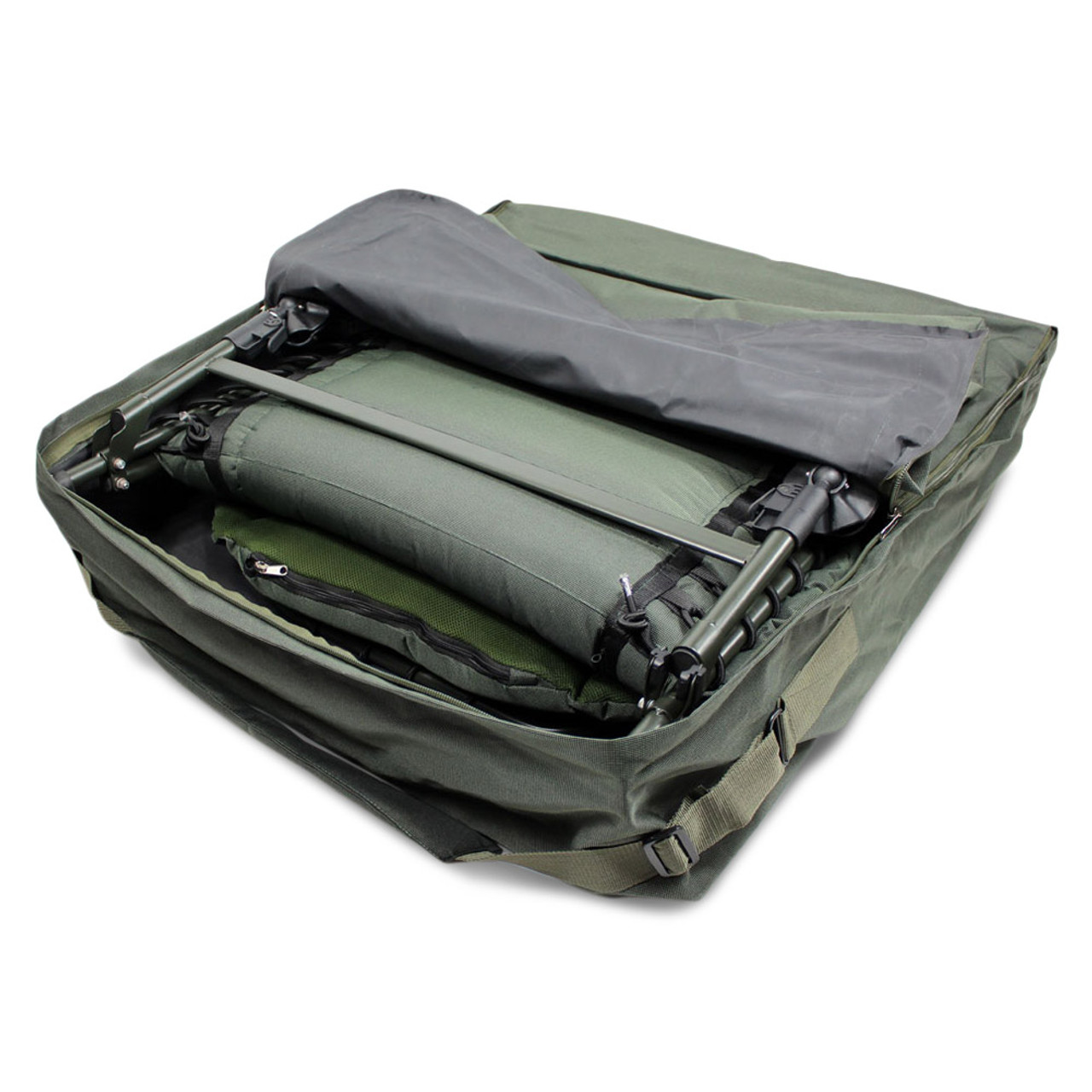 fishing chair carry bags booster for toddler abode deluxe padded carp camping bedchair bag