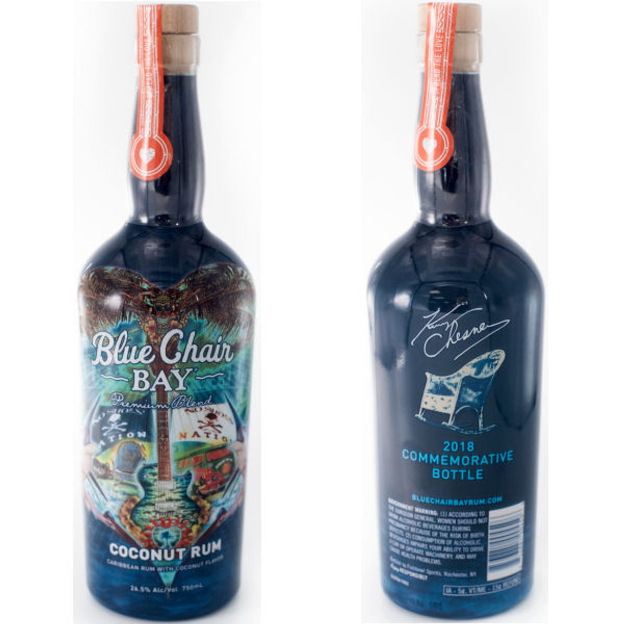 blue chair rum country dining chairs kenny chesney bay premium blend coconut commemorative bottle 2018 750ml