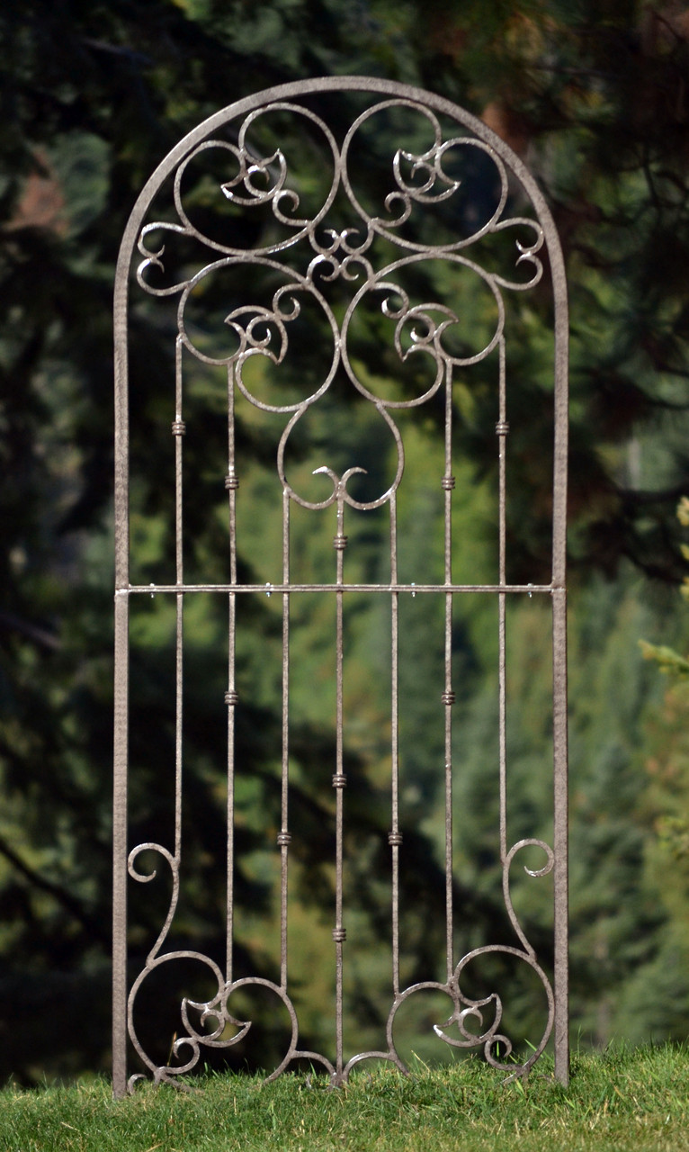 potter also garden trellis wrought iron heavy scroll metal decoration large rh hpotter