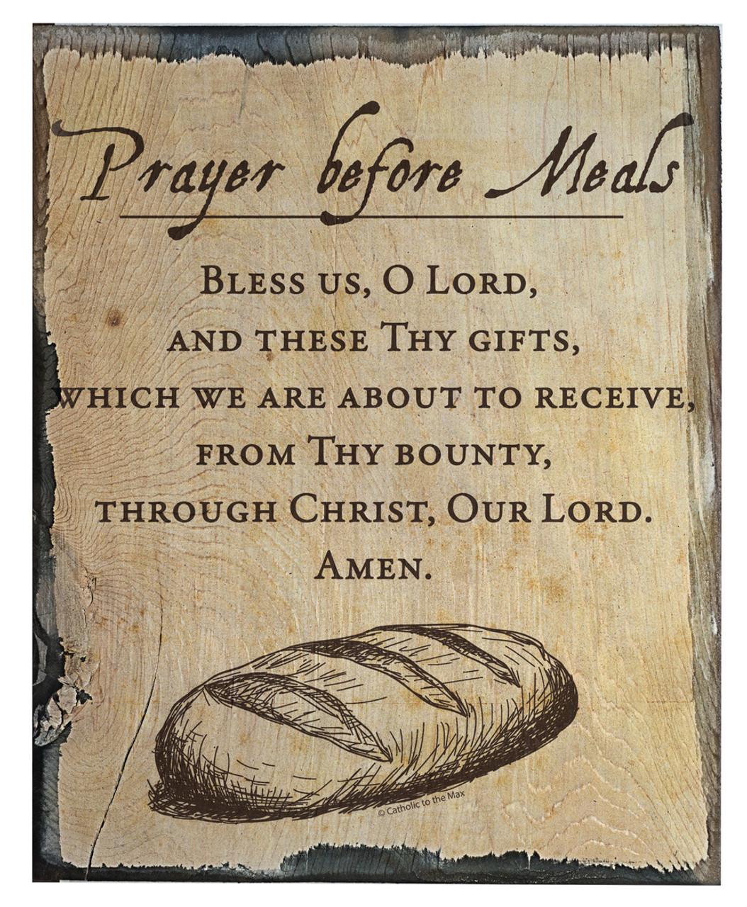 prayer before meals rustic