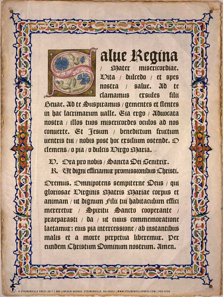 latin hail holy queen