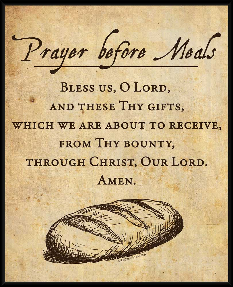 prayer before meals wall