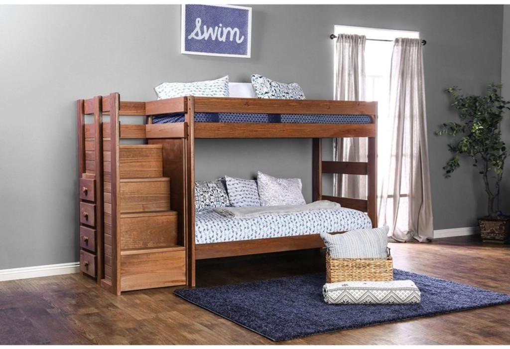 the ampelios mahogany twin twin bunk bed