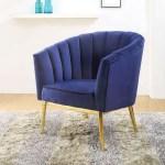 The Colla Blue Velvet Accent Chair Miami Direct Furniture