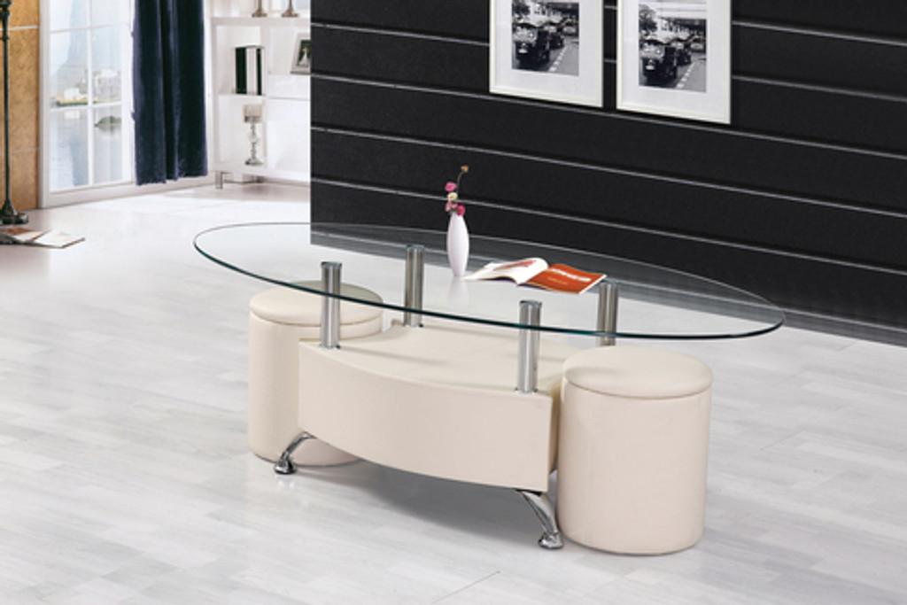 the sandy coffee table ottoman set