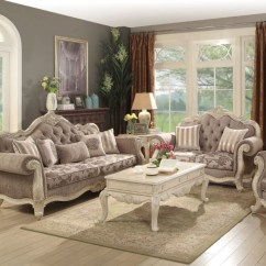 Antique White Living Room Tables With 4 Chairs And No Sofa The Ragenardus Collection Miami Direct 56020 Ac Click Here To Enlarge