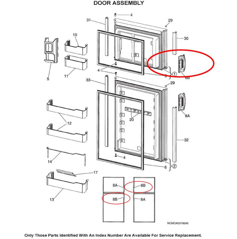 dometic fridge freezer spare parts